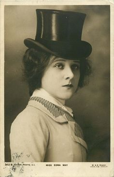 Miss Edna May in Top hat