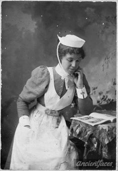 ANNA ISABEL CIMMINGS a Welsh nurse-ancient faces's
