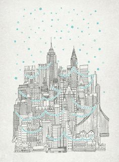 Winter in New York Art Print - or my current phone cover