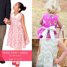 REESE Party Dress PDF Downloadable Pattern by MODKID... by modkid, $8.99