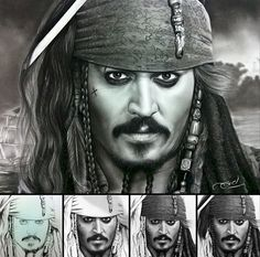 13. Johnny Depp as Captain Jack Sparrow from Pirates of the Caribbean