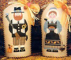 Pair O Pilgrims - Cross Stitch Pattern