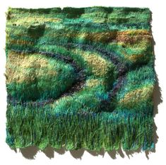 """Road to Emerald Country"" Textile Embroidery Art, Natalia Margulis, mostly hand embroidery with mixed techniques Textile Fiber Art, Textile Artists, Free Motion Embroidery, Embroidery Art, Art And Craft Shows, Arts And Crafts, Textiles, Felt Pictures, Thread Painting"