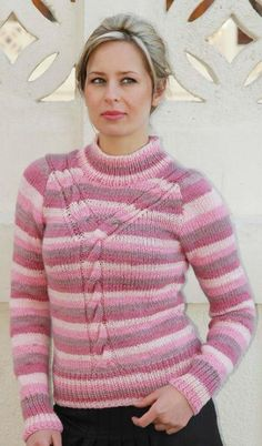 Free Knitting Pattern - Women's Sweaters: Why Cable Sweater
