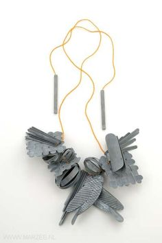 Lucy Sarneel - Love Power, necklace, 2010, zinc, antique Venetian glass beads - 45 x 35 x 45 mm