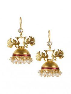 Peacock Silver Earring