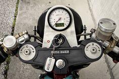 Back to Basics - Guzzi V11 Cafe Racer via returnofthecaferacers.com