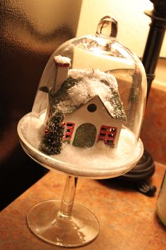 snow globe I made:) thanks to Farm Chicks Christmas