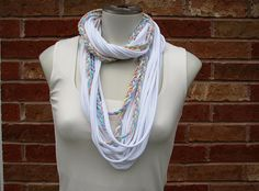 Tshirt Yarn Scarf Braided Jersey String Scarf by FeathersandFancy, $24.95