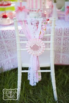 Gorgeous kids chair. Party Inspirations: Mummy and Me Tea Party
