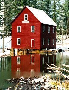 Home sweet home..Starr's Mill with snow :) Rarely happens! Love seeing the Mill on pinterest!