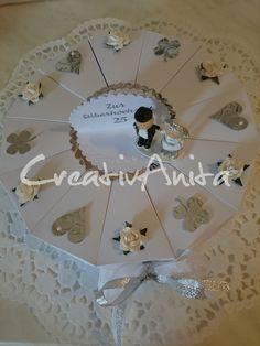 Schachteltorte zur Silberhochzeit - Geldgeschenk - 25. Hochzeitstag