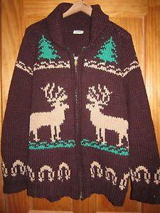 Mary Maxim Men's No. 400 Reindeer sweater jacket