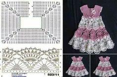 Une robe au crochet avec diagramme