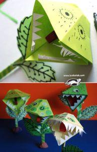 okulöncesi sinek kapan bitkisi sanat etkinligi   OkulÖncesi Sanat ve Fen Etkinlikleri Paylaşım Sitesi