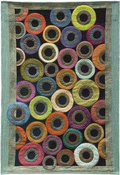 Sidnee Snell - Galleries - Circles Quilt, looks like the ends of bolts or spools