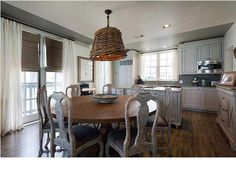 cottage kitchen in Rosemary Beach ~ love the whitewash look