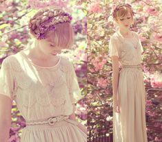Braids and Cherry Blossoms / Elle Ribera