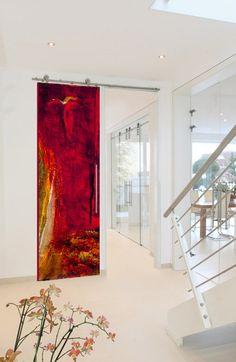 Contemporary art door.