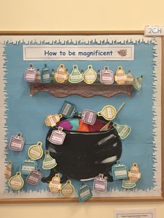 Growth mindset display based on book 'The most magnificent thing'