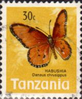 Tanzania 1973 Butterflies Fine Used SG 162 Scott 39 Other Tanzania and British Commonwealth Stamps HERE!