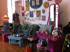 The Paisley Place boutique offers a variety of goods and gifts!  From accessories for the little ones, to local made gifts, to handmade embroidery and reupholstered furniture (owner Debbie does it in the back!)