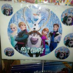 Lámina Redonda Frozen.