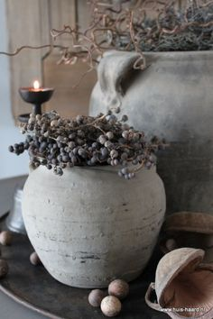 Oud Chinees kruikje S leem Natural Living, Vibeke Design, 50 Shades Of Grey, Wabi Sabi, Beautiful Interiors, Panel Curtains, Country Living, Home And Living, Lanterns