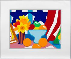 "Tom Wesselmann ""Still Life with Blowing Curtain (Red)"" 1999"