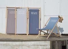 Transat personnalisé Trendy bleu taupe gris