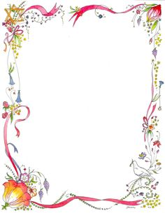 Simple Flower Page Borders