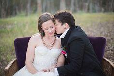 Makes my heart go pitter patter! #Lesbian wedding