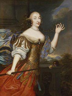 'La Grande Mademoiselle as Athena' (c.1680). Artist unknown. Anne Marie Louise d'Orléans, Duchess of Montpensier, was known as La Grande Mademoiselle (1627-1693). via Reinette