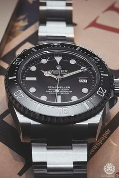 superluxury:  watchanish:  Rolex Sea-Dweller Ref. 116600.Read the full article on WatchAnish.com.  Luxury ✖ Limitless