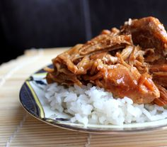 Teriyaki Chicken - Crock Pot - Slow Cooker This recipe makes much more sense than the one being circulated on Pinterest.  Tells you how to thicken the sauce so you have glossy, scrumptious Japanese inspired meal waiting for you when you get home.  This would make a great potluck dish as well. Use Jasmine scented rice!