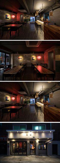 [No.243 누리] 24평 강북 수유 빈티지 술집 인테리어, 상가 디자인 korean vintage pub interior
