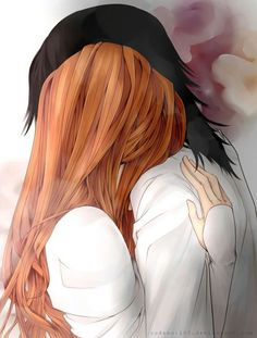 BLEACH Ulquiorra x Orihime - Not really into romance in anime but this pic is nice.