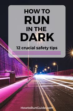 12 crucial tips to running in the dark safely. Running Routine, Running On Treadmill, Running For Beginners, Running Tips, Help Losing Weight, Lose Weight, Weight Loss, Running In The Dark, Indoor Track