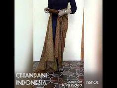 Tutorial memakai kain batik lilit by Chandani Indonesia - YouTube