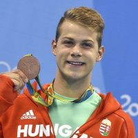 The moment of victory - Hungarian swimmer Tamás Kenderesi with his bronze medal in men's 200 m butterfly - Olympic Games, Rio de Janeiro Rimmel, Olympic Games, Victorious, Butterfly, Swimming, In This Moment, Sports, Bronze, Rio De Janeiro