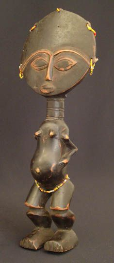 Akuaba doll  Ethnic Group: Asante  Country of Origin: Ghana, Africa  Measurement: 32x 12,5x 6x (cm)  Materials: Wood  Approximate Age: Mid 20th century
