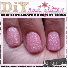 DIY Nails Art :DIY Glitter Nails Art  : DiY Nail glitter.