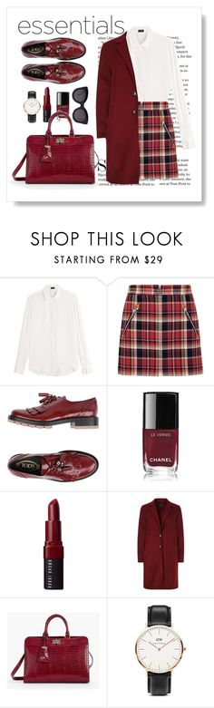"""Maroon Everything"" by doragal ❤ liked on Polyvore featuring Joseph, rag & bone, Tod's, Barneys New York, Bobbi Brown Cosmetics, SET, Talbots, Daniel Wellington and CÉLINE"