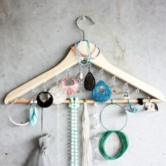 Coat Hanger Jewelry Organizer