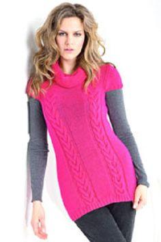 Dlouhý svetr s krátkými rukávy   PLETENÍ – NÁVODY