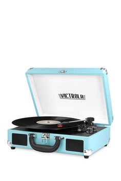 Image of Innovative Technology Victrola Bluetooth Suitcase 3-Speed Turntable Record Player
