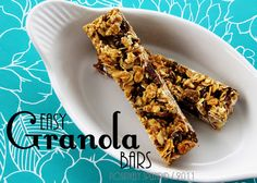 Positively Splendid {Crafts, Sewing, Recipes and Home Decor}: Easy Granola Bar Recipe