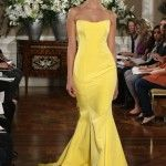 Who's Gonna Get Married? Here is 25 Ideas of Modern Bridesmaid Dresses. Yellow Wedding Dress, Wedding Party Dresses, Yellow Dress, Elegant Dresses, Pretty Dresses, Glamorous Dresses, Modern Bridesmaid Dresses, Mellow Yellow, Glamour