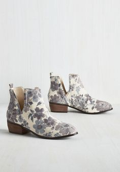 Romantic Amble Bootie in Morning Fog, @ModCloth