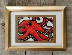 Miniature Pacific Octopus Cross Stitch Pattern - PDF DOWNLOAD